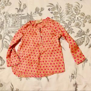 Crewcuts pink and peach star tunic